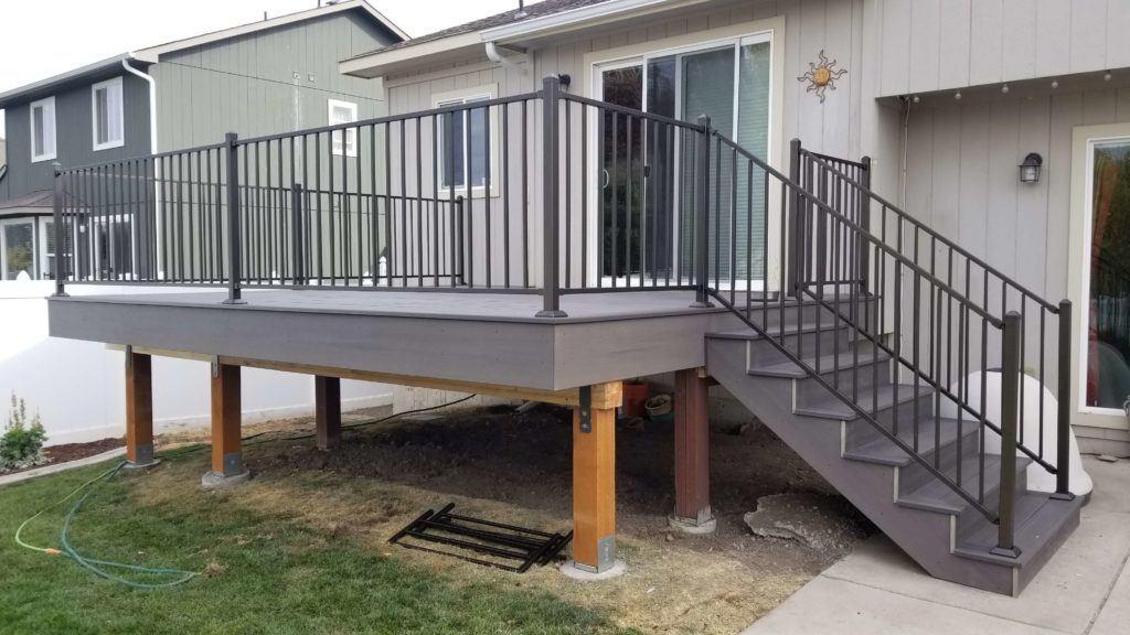 Custom composite deck in Spokane